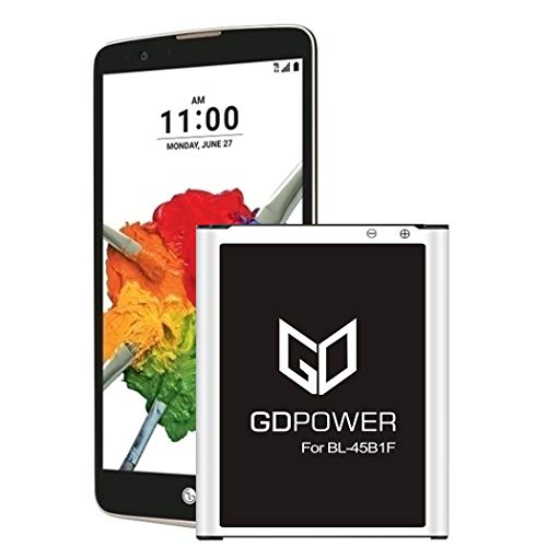 LG Stylo 2 Battery, GDPower 3400mAh High Capacity 0 Cycle Battery BL-45B1F Replacement for LG Stylo 2 Plus MS550 K550 LS775 LTE L81AL K540,LG Stylo 2 Spare Battery-3 Year Warranty
