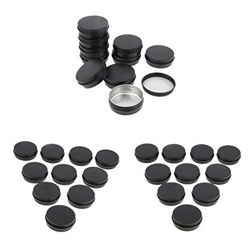 IPOTCH 30x 60g Pot Vide en Aluminium Récipient Cosmétique avec Couvercle pour Échantillon de Crèmes Stockage de Maquillage