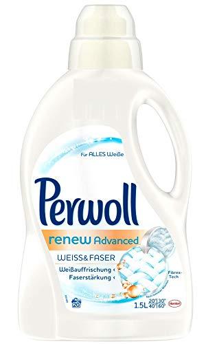 Perwoll renew Advanced Weiß & Faser Feinwaschmittel, 80 (4 x 20) Waschladungen, für helle Textilien