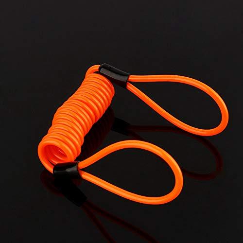 Anti-diefstal Lente Herinnering Top, Motorfiets Alarm Disc Lock Antidiefstal Beveiliging Lente Herinnering Kabel Tight Oranje