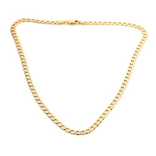 Panzerkette / Halskette, 9Karat Gold, Diamantschliff, Gliederkette, Gewicht circa 14 g