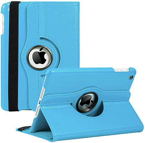 iPad Mini 1/2/3 Case - 360 Degree Rotating Stand Smart Cover Case with Auto Sleep/Wake Feature for Apple iPad Mini 1 / iPad Mini 2 / iPad Mini 3 (Sky Blue) …