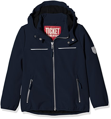 Ticket to Heaven Jungen Jacke Softshell Alex 1/1 Arm M. Abnehmbarer Kapuze, Blau (Total Eclipse 3000), 164