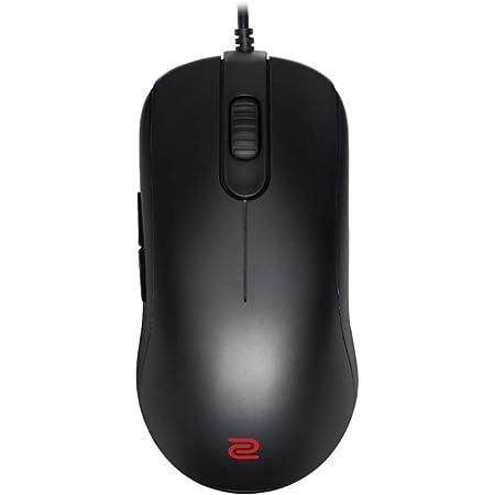 BenQ ZOWIE FK2-B – Ratón Gaming para e-sports (versión en negro mate con diseño simétrico y tamaño mediano, 123x58x36mm)