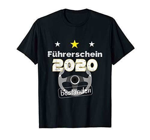 Führerschein 2020 bestanden Geschenk für Fahranfänger T-Shirt
