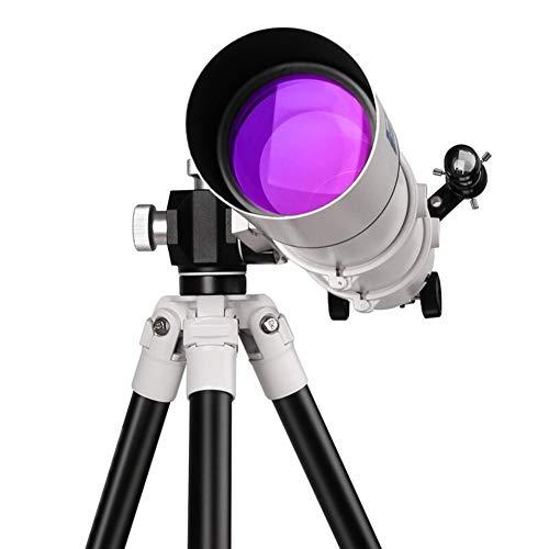 GKD Telescopio Profesional 80MM con Trípode Portátil Vista Al Aire Libre para La Observación De Estrellas De La Luna con 5X25 Star Finder