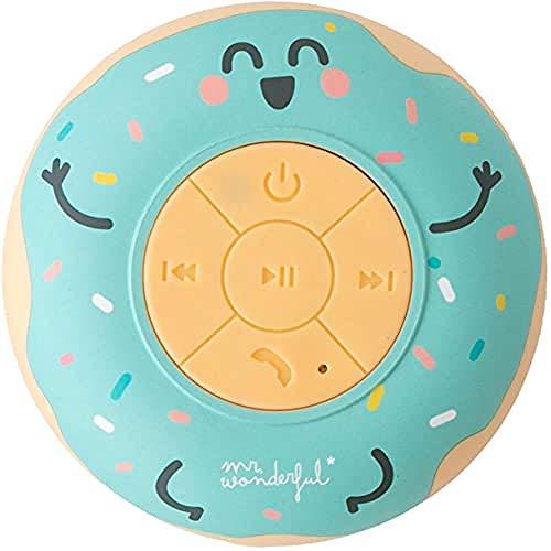 Mr. Wonderful Altavoz Bluetooth Inalámbrico Waterproof para Ducha con Forma de Rosquilla con 3-4...