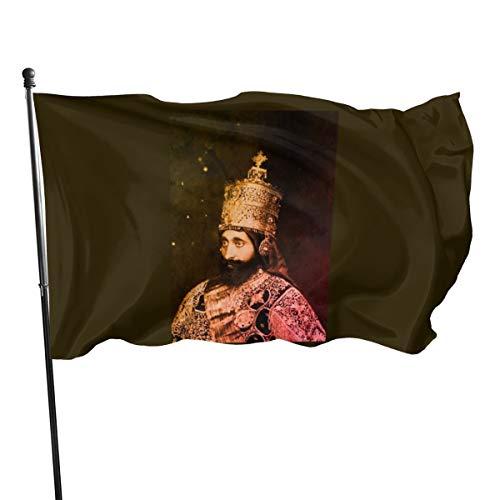 Generic Brands Haile Selassie – Rastafari Messiah – Reggae Flagge Bannerflaggen, 91 x 152 cm