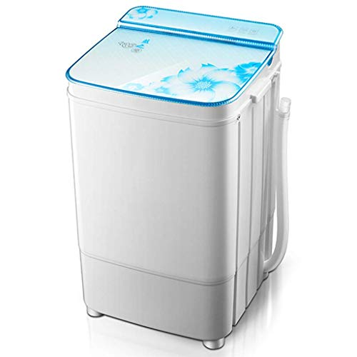 WCY Tragbare Waschmaschine Mini Waschmaschine, Theken Waschmaschine, Einzel Tub Spin Dry (6kg) 13lbs Kapazität Top Load Dorm Startseite Compact RV, Blau/Rot/Gold/Gelb yqaae (Color : Light Blue)