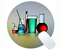 カスタマイズされた科学の主題の円形のマウスパッドの化学滑り止めのゴム製基礎マウスパッド