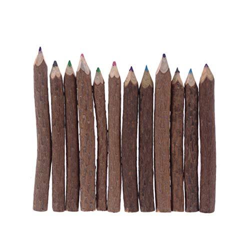 TOYANDONA 8 Stücke Kinder Holzstifte Groß Farbstifte Kreative Baum AST Kunst Zeichnung Bleistift Skizze Zeichnung für Kinder Kleinkinder Studenten Graphit Klassenzimmer Büro Schule 9-10 cm