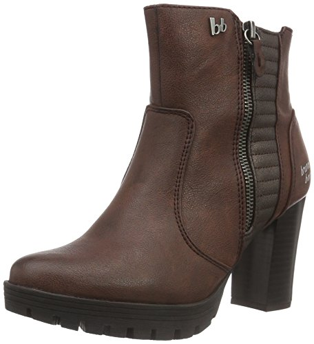 Bruno Banani Damen Stiefelette Combat Boots, Rot (570 WINE), 36 EU