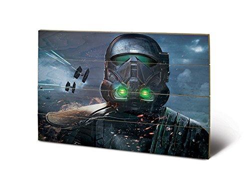 Star Wars SW11855P Rogue One (Death Trooper Glow) Impression sur Bois, Dense, Multicolore, 40 x 59 cm