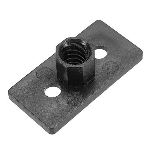 ILS T8 4 mm Lead 2 mm Pitch T Thread POM Black plastic groef plaat voor 3D-printer