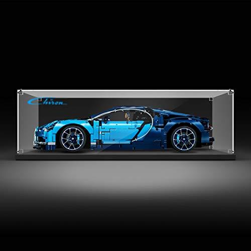 IT IF IT Présentoir Vitrine Compatible avec Lego Technic Bugatti Chiron 42083, Acrylic Display Case Antipoussière Protection (Modèle Pas Inclus)
