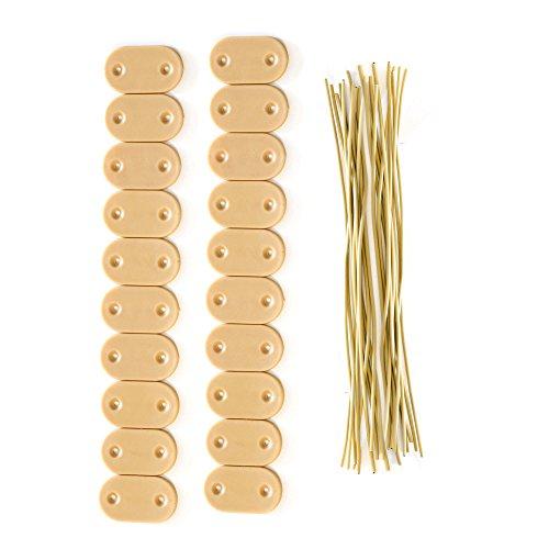 jarolift Kit de Fixation pour canisse en PVC, Bambou/Lot de 40