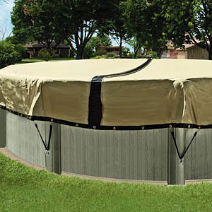 In The Swim 24 Foot Round Ultimate Above Ground Winter Pool Cover - 12 Year Warranty