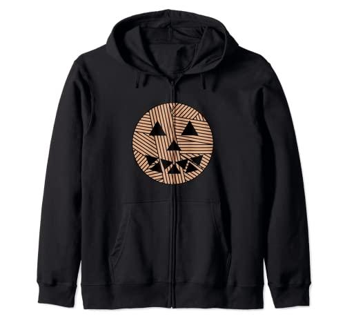 Bola de hilo cara de calabaza de Halloween Sudadera con Capucha