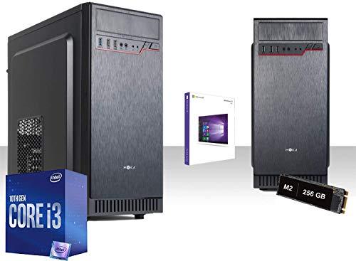 Pc Desktop Completo Intel I3-10100 4,3Ghz 10Gen,Windows 10Pro/Wifi 300Mbps/Ssd 256 Gb M2,Ram 8gb Ddr4/Lettore Dvd-Cd/Hdmi/Ufficio,Lavoro,Completo
