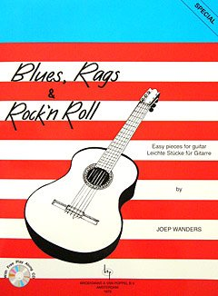 BLUES RAGS & ROCK'N ROLL - arrangiert für Gitarre - mit CD [Noten / Sheetmusic] Komponist: WANDERS JOEP