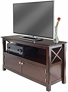 Pemberly Row TV Stand in Cappuccino