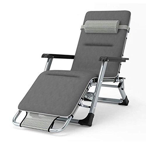 FVGBHN Sun Lounger Folding Sun Lounger, Folding Deck Chair Beach Deck Chair, Beach Garden Camping Bed Chair, Comfortable Sofa-White Tesling with Cotton Pad