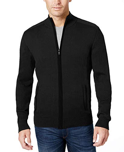 COOFANDY Mens Full Zip Up Sweaters Lightweight Casual Slim Fit Cardigan with Pockets (M, Classic Grey)