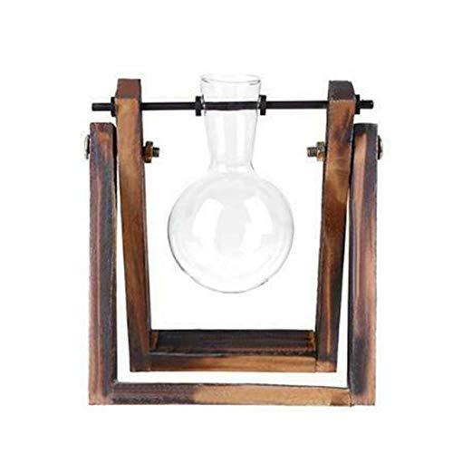 Gbc-Typ vaas van glas en hout terrariumtafel desktop hydrocultuur bonsai bloempotten hangend met houten plaat zoals op de foto