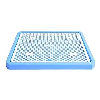 N / A Toilette De Formation Intérieure pour Chiens Chats, Coussin De Maille De Pot pour Animaux De Compagnie Régulièrement Propre Protéger Le Bac à Litière(Color:Bleu)