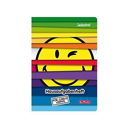 Herlitz 50016044 Aufgabenheft A5, 48 Blatt Smileyworld Rainbow Jalousie