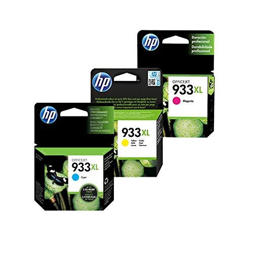 HP 3 Pack Combo Cartucho 933XL - 8.5ml - Alto Rendimiento - Colores Magenta Cyan Amarrillo - CN056AL...