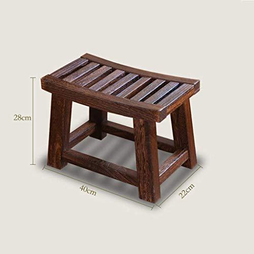AXCJ Small Seat All Solid Wood, Chinesisch, Adult Hocker Kinderhocker, Kleiner Hocker, Fußstütze, Change Shoes Hocker, Wohnzimmer Couchtisch Hocker, Sattelhocker Restfläche Länge 40Cm, Breite 22Cm