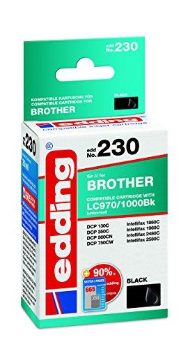 edding 18-230 Druckerpatrone EDD-230 Ersetzt: Brother LC970Bk/LC1000Bk,Einzelpatrone, schwarz