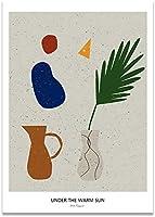 北欧のシンプルなキャンバスの印刷色レトロな静物植物フラワーアート壁ポスターモダンな壁画リビングルームアート家の装飾40x60cmフレームなし