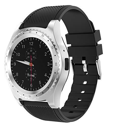 QFSLR Smartwatch Pulsera Actividad Inteligente Fotografía Remota Música Bluetooth Monitor De Sueño para Hombres Y Mujeres,Negro