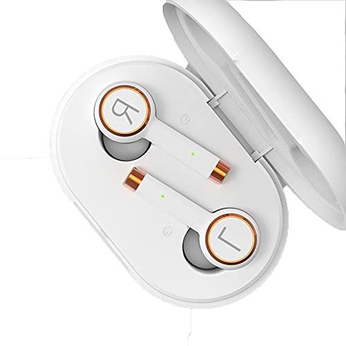 KDJFHDJ Verdadero AURICURADA Bluetooth INALÁMBRICA Largo Standby BATERÍA DE LA BATERÍA EN EL EUR Stereo 5.0 Deportes Binaural Universal Teléfono móvil