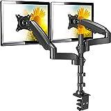 ErGear Monitor Halterung 2 monitore für 13-32 Zoll /9KG Bildschirm mit Vollbereich-Bewegung Höhenverstellbarer Tischmonitor Neigung +85°/-30° Schwenkung 180° Drehung 360° VESA 75/100mm