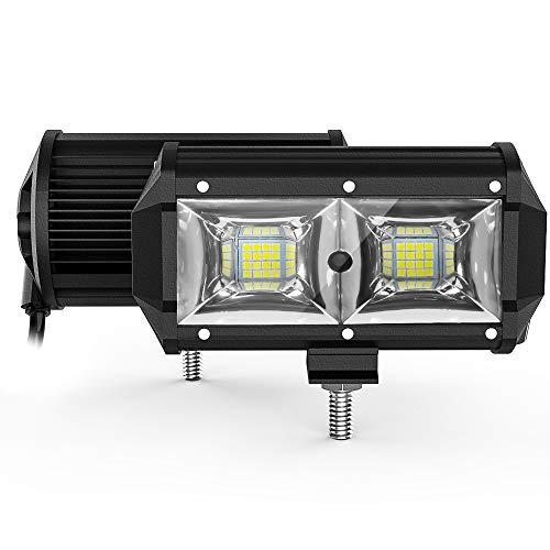 KALYSKY LED Pods 2PCS 5 inch 96W LED Light Bar, 18000LM Spot Flood Combo Offroad Lights Bar Beam Led Work Lights for Trucks Off-Road SUV Tractor Rv ATV UTV Boat Lighting