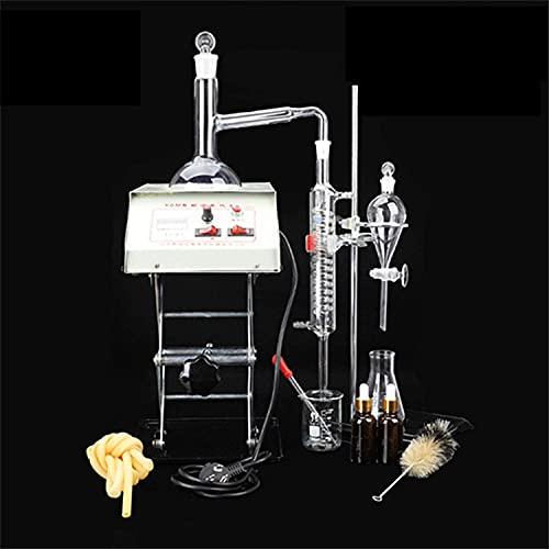 Aparatos de destilación de aceite esencial Servicios de cristalería de laboratorio con estufa eléctrica condensador Graham,kit de cristalería de laboratorio de química Purificador de destilador de agu