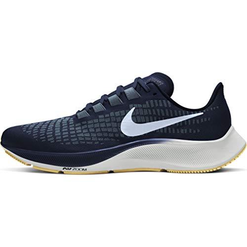 Nike Men's AIR Zoom Pegasus 37 Running Shoe, Obsidian Celestine Blue Ozone Blue Photon Dust Gum Lt Brown, 6.5 UK