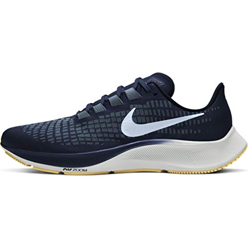 Nike Men's AIR Zoom Pegasus 37 Running Shoe, Obsidian Celestine Blue Ozone Blue Photon Dust Gum Lt Brown, 9 UK
