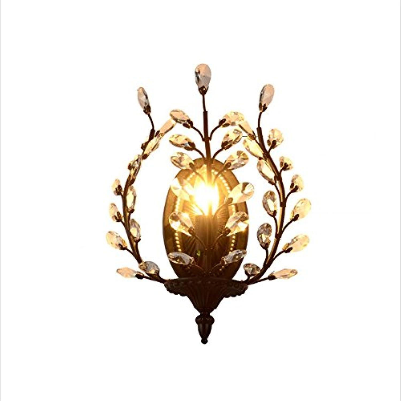 HEYUN& Kreative Kristall Lampe Wohnzimmer Flur Flur Schlafzimmer Nacht Eisen Wandlampe D28  H38 (cm) ( Farbe   Schwarz )