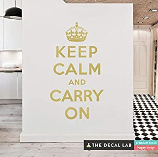CECILIAPATER Keep Calm and Carry On Wall Decal - Propaganda Poster Wall Quote - Matte Vinyl Wall Decal WAL-A126