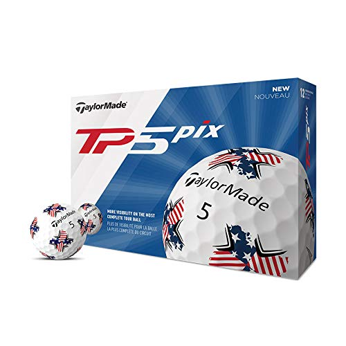 TaylorMade TP5 Pix USA Golf Balls (One Dozen)