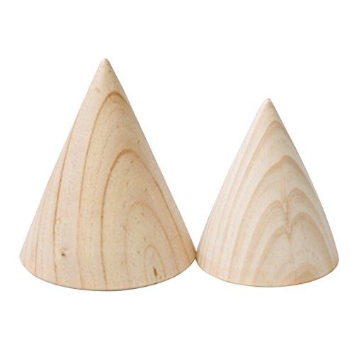 Milageto Vitrina para expositor para joyas con pulsera de madera hecha a mano