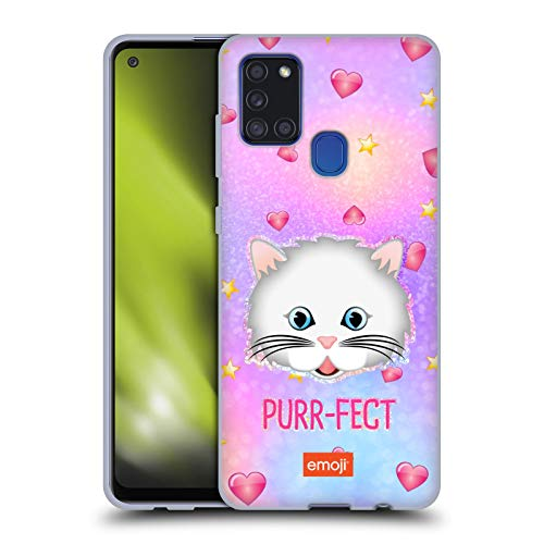 Head Case Designs Officially Licensed Emoji Purr-FECT Trendy Soft Gel Case Compatible with Samsung Galaxy A21s (2020)