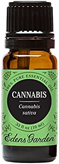 Edens Garden Cannabis Essential Oil, 100% Pure Therapeutic Grade (Highest Quality Aromatherapy Oils- Inflammation & Pain), 10 ml