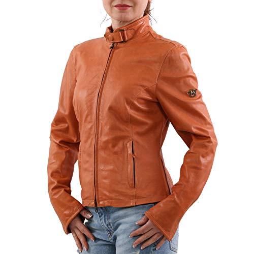 Matchless Damen Leder Jacke Osborne Blouson Orange 123116 Größe (42) S