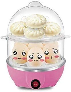 HAOT Cocedor de Huevos,Calderas multifuncionales Olla de cocción rápida de Huevo de 2 Capas Caldera de Cazador furtivo de Huevos Bandeja extraíble con Capacidad para 14 Huevos, Rosa