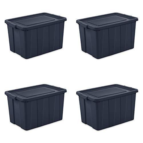 Sterilite 16798N04 Storage Tote, 30 gallon, Dark Indigo Lid and Base